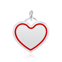 Gravierbarer Kettenanhänger Herz aus Sterlingsilber