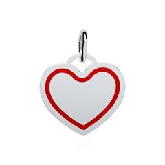 Anhänger Herz aus 925er Silber gravierbar