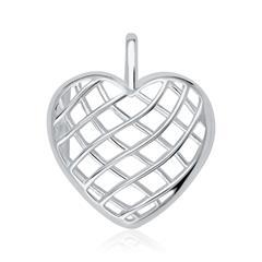 Medaillon Anhänger Herz aus 925er Silber