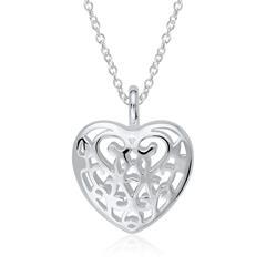 Kette mit Herz Medaillon aus Sterlingsilber