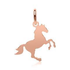 Pferde-Anhänger aus 925er Silber rosévergoldet