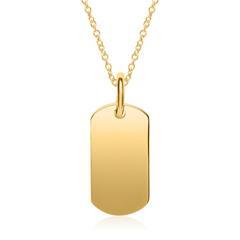 Kette aus vergoldetem Sterlingsilber gravierbar