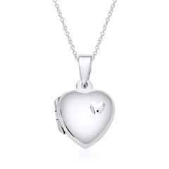 Herz Medaillon Kette aus Sterlingsilber gravierbar