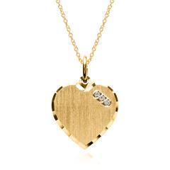 Kette Herz aus vergoldetem 925er Silber mit Zirkonia