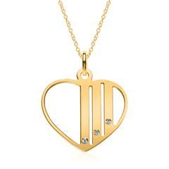 Gravierbare Herzkette aus vergoldetem Sterlingsilber