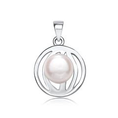 Kettenanhänger aus 925er Silber mit Perle