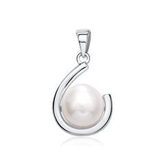 Anhänger aus 925er Silber mit Perle