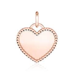 Herzanhänger aus rosévergoldetem 925er Silber