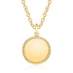 Kette Kreis aus vergoldetem Sterlingsilber, gravierbar