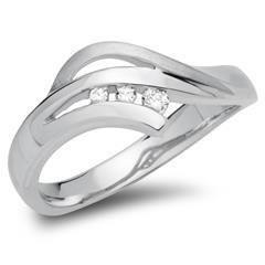 925 Ring mit mehreren Zirkonia