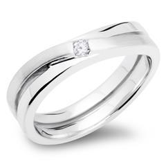 925 Ring aus Silber mit Zirkonia