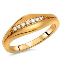 Hochwertiger Silberring vergoldet Zirkonia