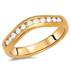 Hochwertiger Silberring vergoldet