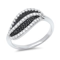 925 Sterling Silber Fingerring mit Steinbesatz
