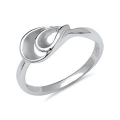 Fingerring aus Silber teilpolierte Oberfläche
