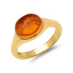 Sterlingsilber Ring vergoldet mit Steinbesatz