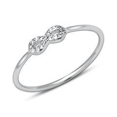 925 Silber Ring Unendlichkeitssymbol Zirkonia
