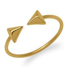 Ring Pyramiden 925er Silber vergoldet