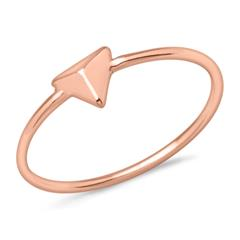 Ring Pyramide 925er Silber rosévergoldet