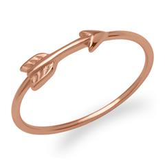 Ring Pfeildesign 925er Silber rosévergoldet