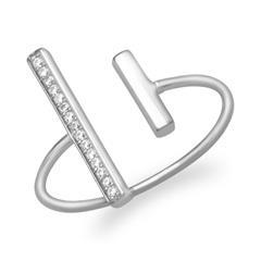 Ring mit stabförmigen Zierelementen 925er Silber