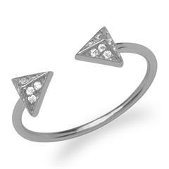Extravaganter Ring Pyramiden 925er Silber
