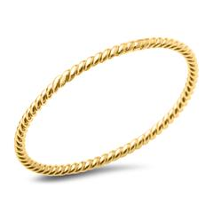 Vergoldeter 925er Silberring für Damen im Kordeldesign