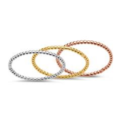Ring-Set 925er Bubble-Design Silber rosé gold SR0333