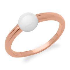Moderner Ring 925er Silber roségold heller Stein