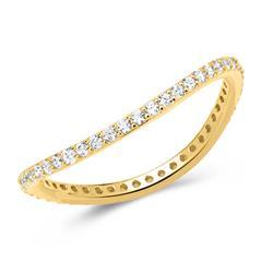 925er Ring vergoldet Zirkonia geschwungen