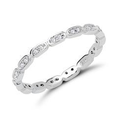 925er Silberring für Damen rhodiniert mit Zirkonia