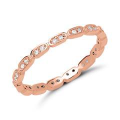 Ring 925er Silber rhodiniert rosévergoldet Zirkonia