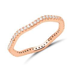 Ring 925er Silber rosévergoldet rhodiniert Zirkonia