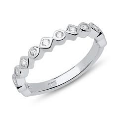 Ring 925er Sterlingsilber Zirkonia gravierbar