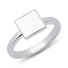 Ring quadratisch 925er Silber gravierbar