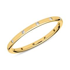 Vergoldeter 925er Silberring mit Zirkonia