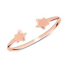 Ring Sterne aus rosévergoldetem 925er Silber