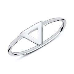 Ring Dreieck aus 925er Sterlingsilber