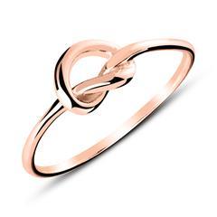 Ring Herz aus rosévergoldetem Sterlingsilber