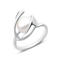 Perlenring für Damen aus Sterlingsilber