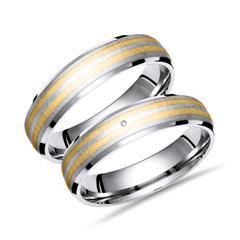 Eheringe Titan Gold Hochzeitsringe Diamant