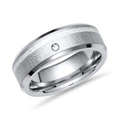 Exklusiver Ring Titan Einlage Silber & Brillant