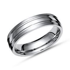 Moderner teilpolierter Ring Titan in 6mm Breite