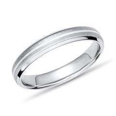 Moderner Ring Titan mit Einlage Silber 4mm breit