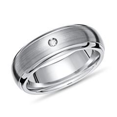 Exklusiver Ring Titan 6mm Kanten poliert Diamant