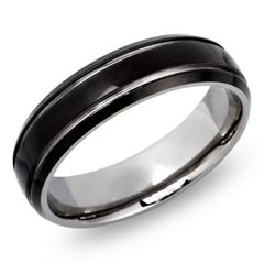Moderner Ring Titan mit Glanzrille