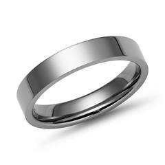 Moderner Ring Titan hochglanz poliert