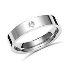 Exklusiver Titan Ring hochglanzpoliert & Diamant