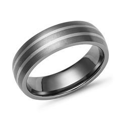 Exklusiver Titanring mit 2 925 Silbereinlagen