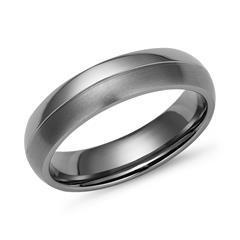 Titan Ring matt/glänzende Kombination